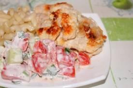 Салат с хурмой и курицей - 10 пошаговых фото в рецепте