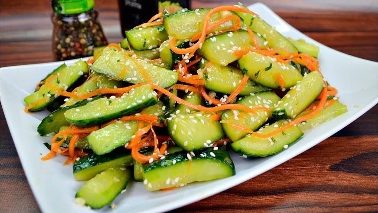 Вкусные огурцы по-корейски: пошаговый рецепт приготовления
