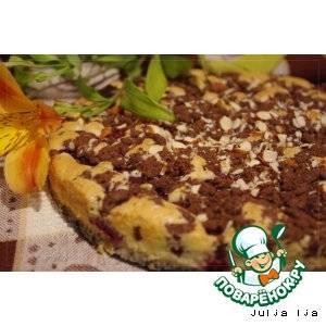 Кофейно-ромовый кекс с яблоками