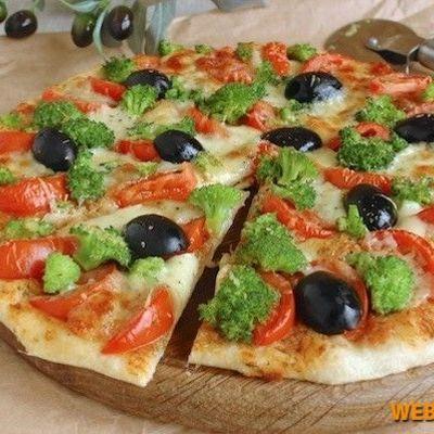 Пицца из хлеба на сковороде