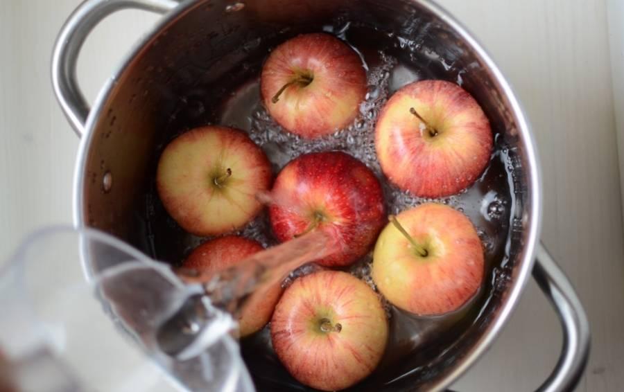 Запечённые яблоки с бананом