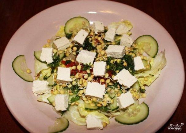 Cалат с пророщенным горохом. рецепт: салат из нута - из пророщенного нута