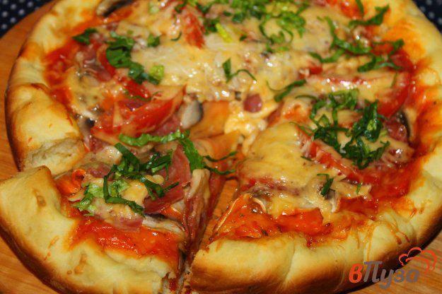 Пицца с грибами и колбасой: фото, видео, рецепты, как приготовить пиццу на сковороде и в духовке