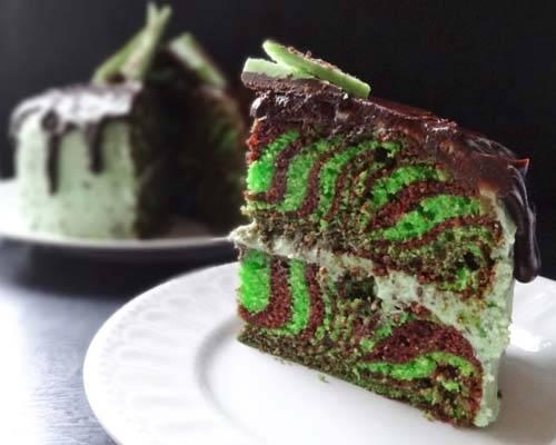 Мятно-шоколадные кексы