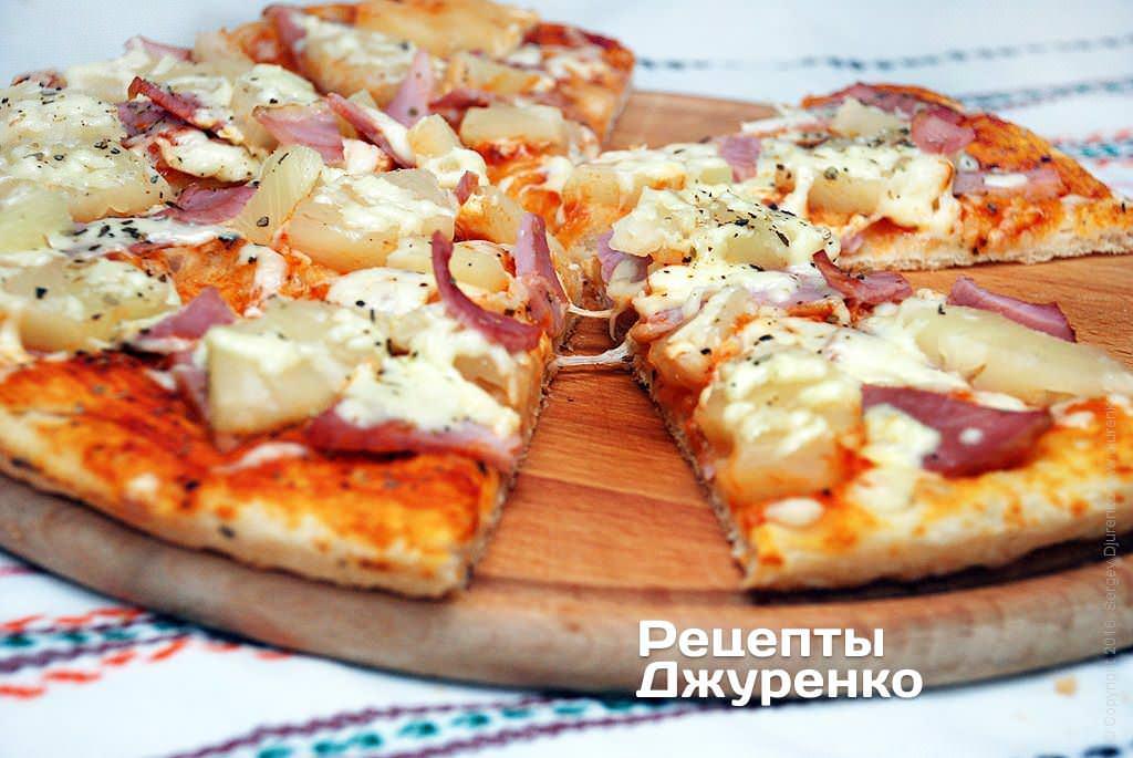 Пицца с ананасами: рецепты
