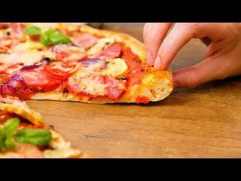 Готовим вкуснейшую пиццу с тестом на кефире и дрожжах