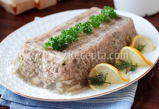 Холодец из свиных ножек — 10 пошаговых рецептов