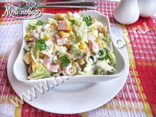 Лучшие рецепты салата с копченой курицей