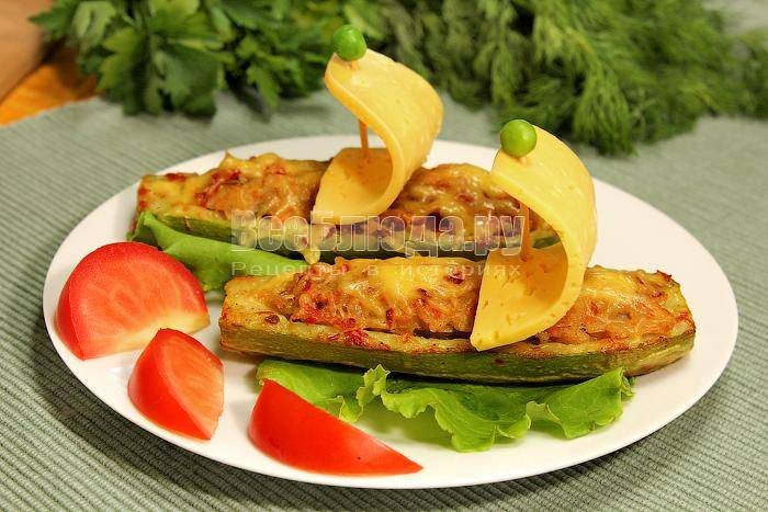 Лодочки из кабачков с фаршем: рецепт с фото в духовке