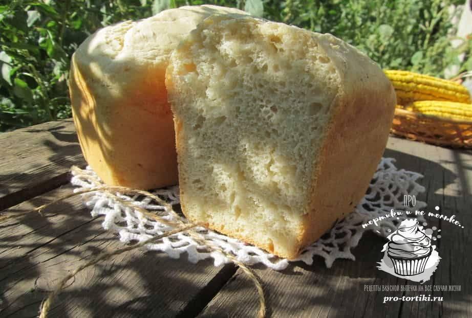 Домашний белый хлеб в мультиварке