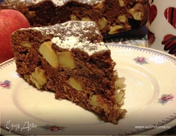 Шоколадный пирог с яблоками - 10 пошаговых фото в рецепте