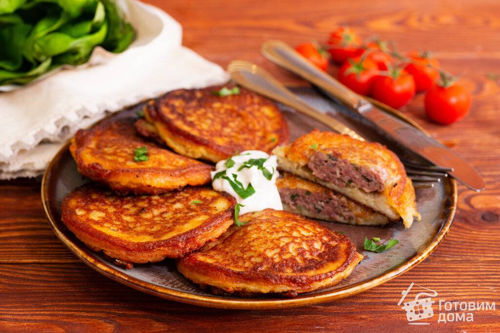 Рецепты картофельных блинов — классических и с начинкой