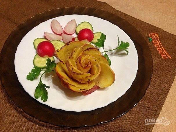 Картофельные цветочки-розочки