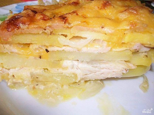 Картошка с курицей под сыром