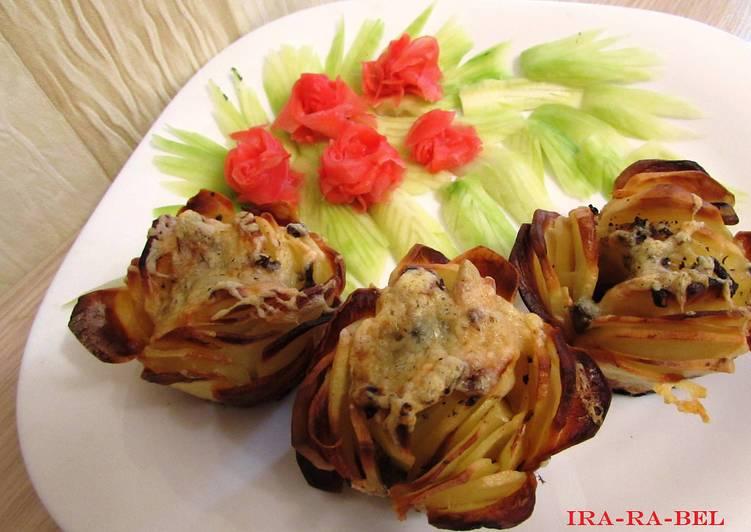 Картофельные розочки с фаршем/ рецепт с фото