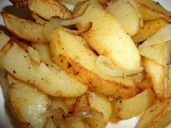 Хрустящая запечённая картошка по-особому рецепту