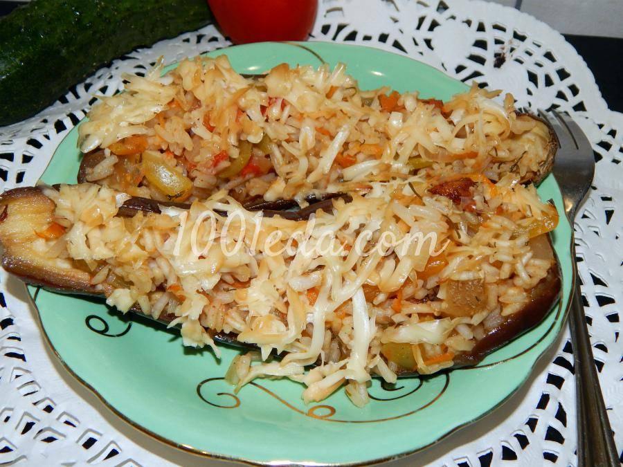 Лодочки с рисом и курицей