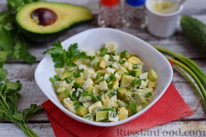 Мясо с авокадо на сковороде
