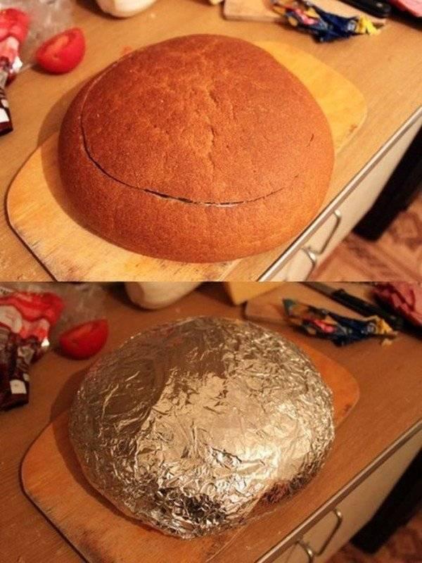 Постный хлеб с грибами и красным луком