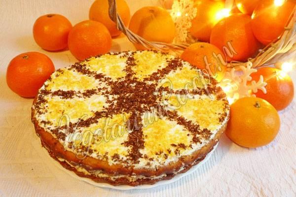 Бисквитный торт с апельсиново-мятной пропиткой и меренгами рецепт – югославская кухня: выпечка и десерты.