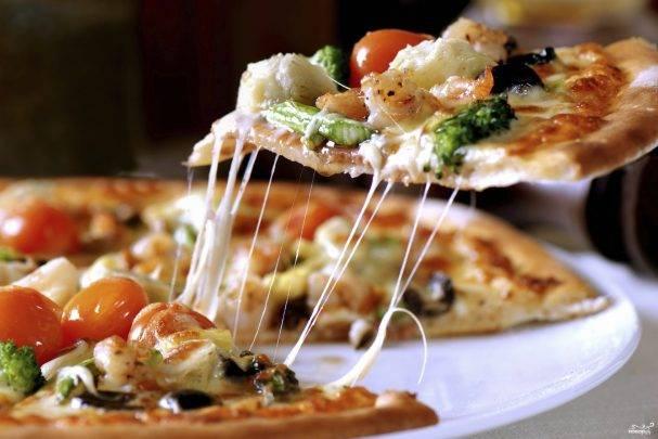 Итальянская пицца на тонком тесте рецепт