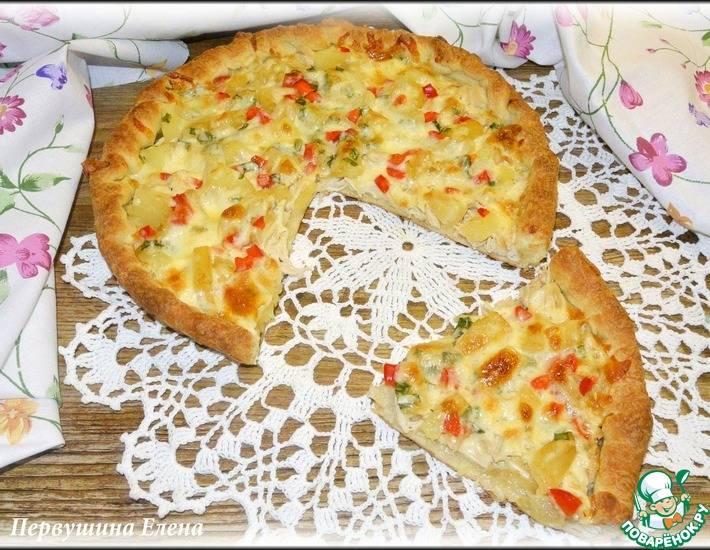 Пицца с ананасами и курицей - рецепты джуренко