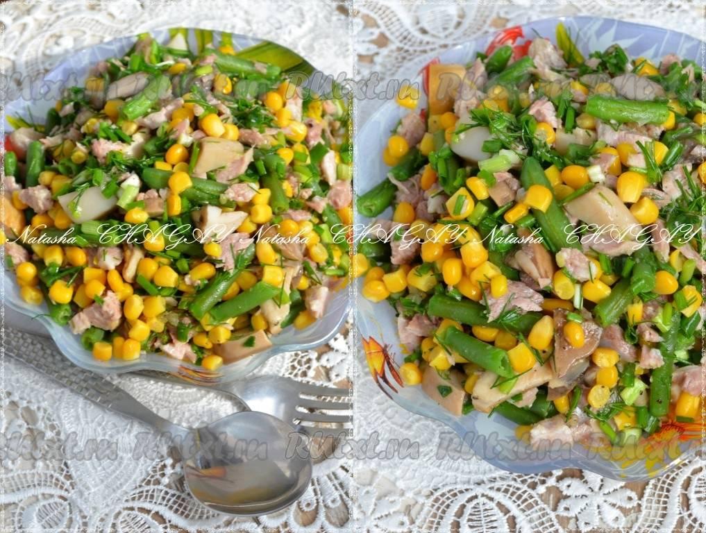 Фасоль с грибами, тушеная в густом соусе — отличное сытное блюдо
