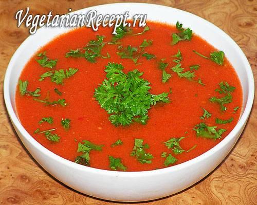 Как приготовить горячий суп гаспачо