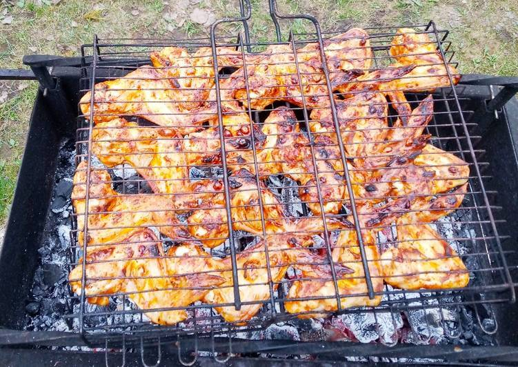 Куриные крылья на гриле рецепт