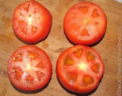 Рецепт помидоры, фаршированные зеленью и перепелиными яйцами