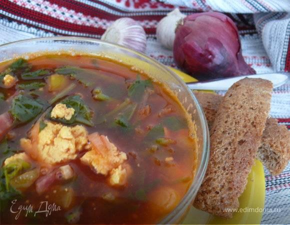 Зеленый борщ с щавелем и шпинатом - 9 пошаговых фото в рецепте