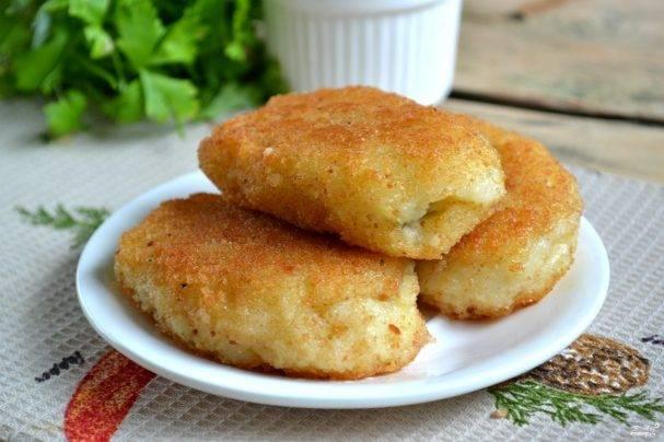Картофельные зразы с курицей и шампиньонами