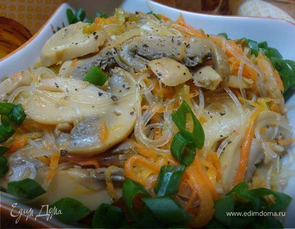 Рецепт риса с шампиньонами на сковороде - 8 пошаговых фото в рецепте