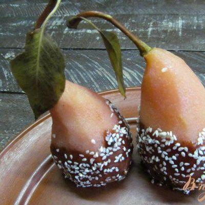 Тарт с грушами и медовой карамелью
