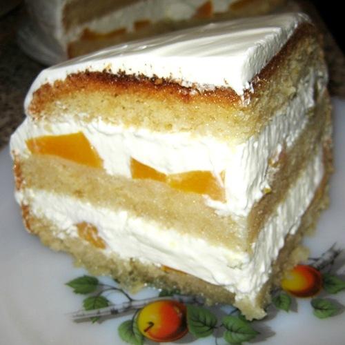 """Торт бисквитный с творожным кремом """"экстра"""""""