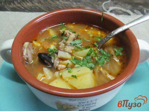 Суп с цветной капустой и шампиньонами