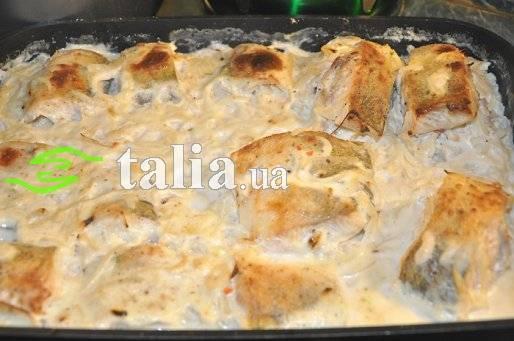 Пеленгас запеченный в фольге в духовке