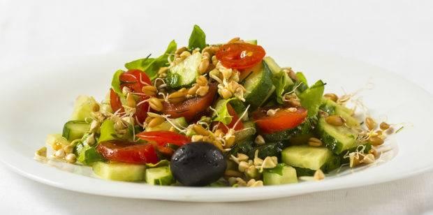 Салат с ростками пшеницы: рецепт и фото
