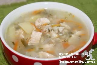 Суп с овсяными хлопьями