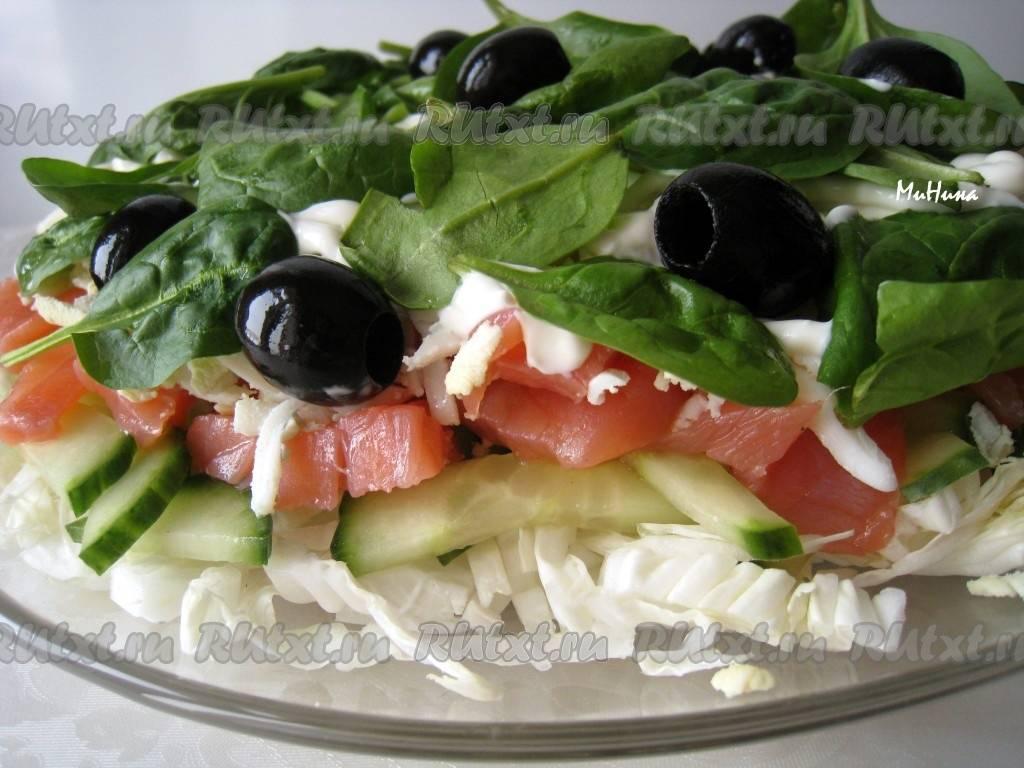 Салат с копченой рыбой красной: 9 пошаговых видео рецептов. смотрите! – 24 рецепта — салат с копченой рыбой