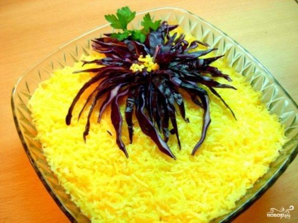 """Салат """"хризантема"""" - пошаговый рецепт с фото на сайте банк поваров"""