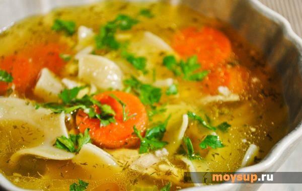 Сырный суп с куриными крылышками