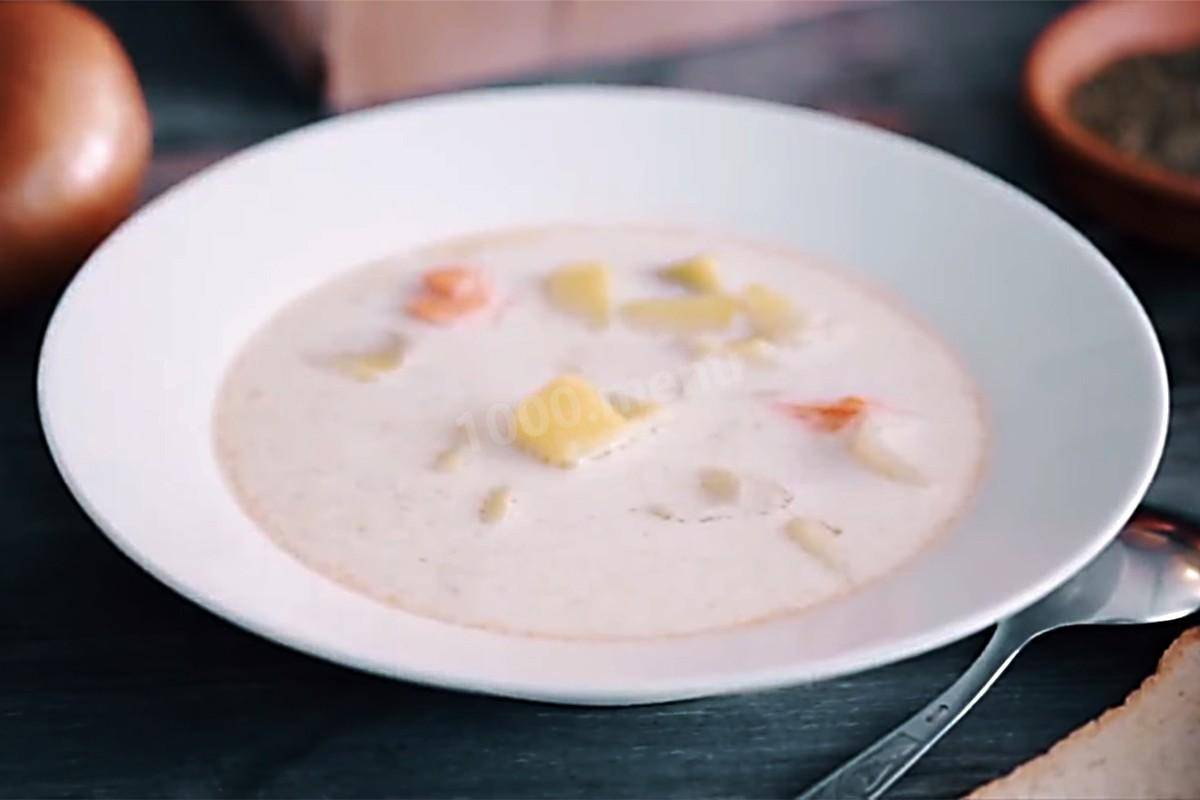 Сырный крем суп с семгой и со сливками пошаговый рецепт с фото и видео