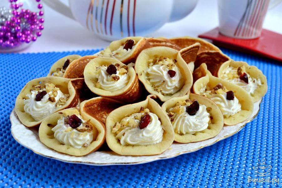 Арабские блинчики катаеф с грибами и сыром - пошаговый рецепт с фото    разное