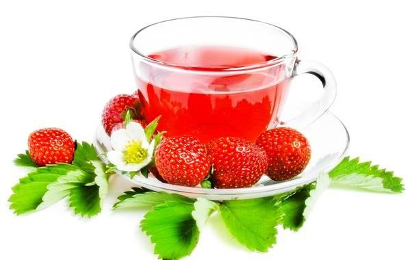 Ферментированный чай из листьев клубники
