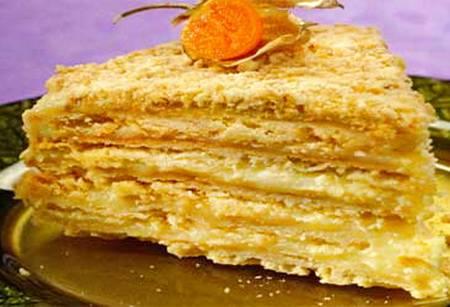 """Жареный торт """"наполеон"""" с заварным кремом"""