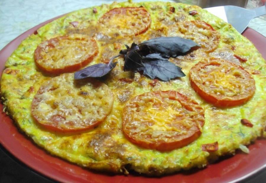 Пицца из кабачков в духовке с сыром