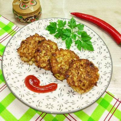 Котлеты из кабачков в духовке - 8 пошаговых фото в рецепте