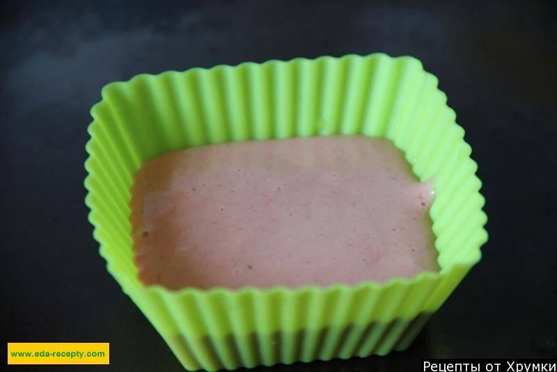 Печеночные кексы с начинкой