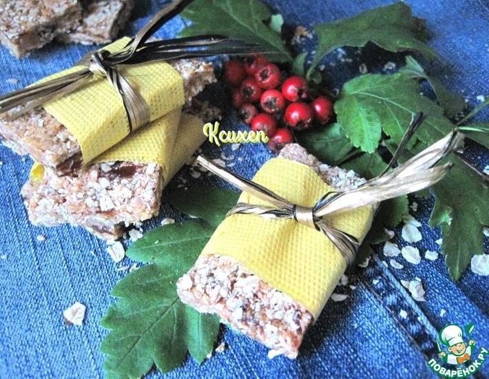 Мюсли-батончики с арахисовой пастой